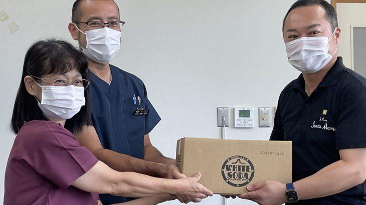 伊江島の特産品「イエソーダ」が医療・教育現場に寄贈されました!