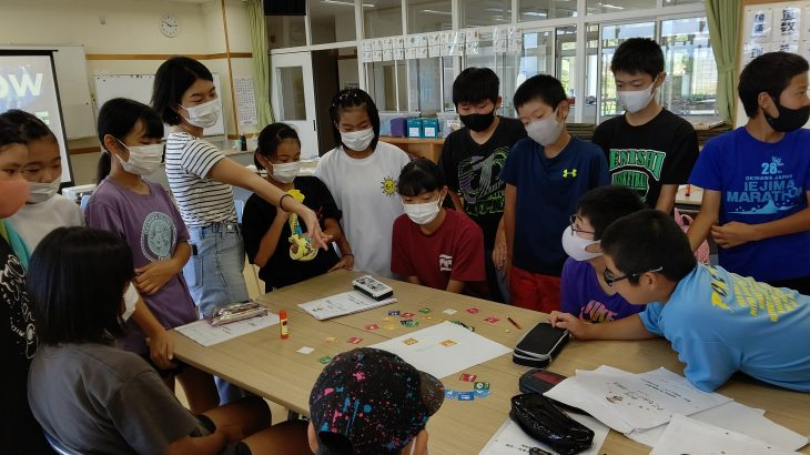 伊江村子ども会のリーダー研修で「SDGsについて学んだよ!」
